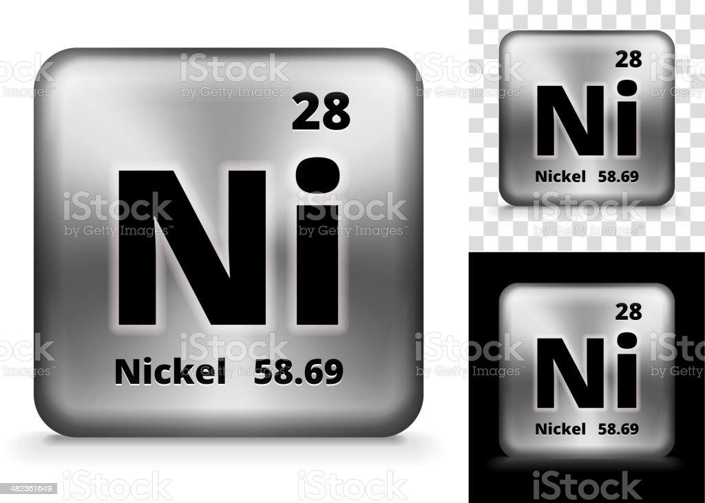 Nickel Square Element Background Set vector art illustration