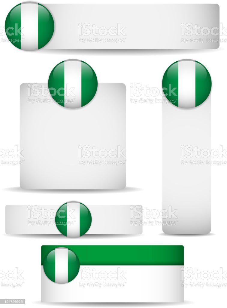 Nigeria Country Set of Banners royalty-free stock vector art