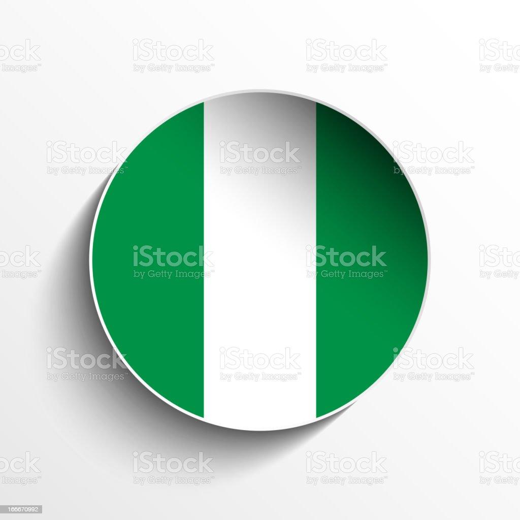 Nigeria Flag Sticker Button royalty-free stock vector art