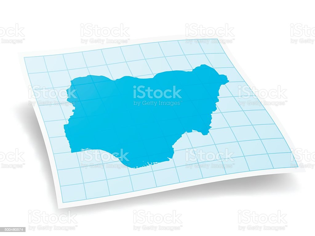 Nigeria Map isolated on white Background vector art illustration