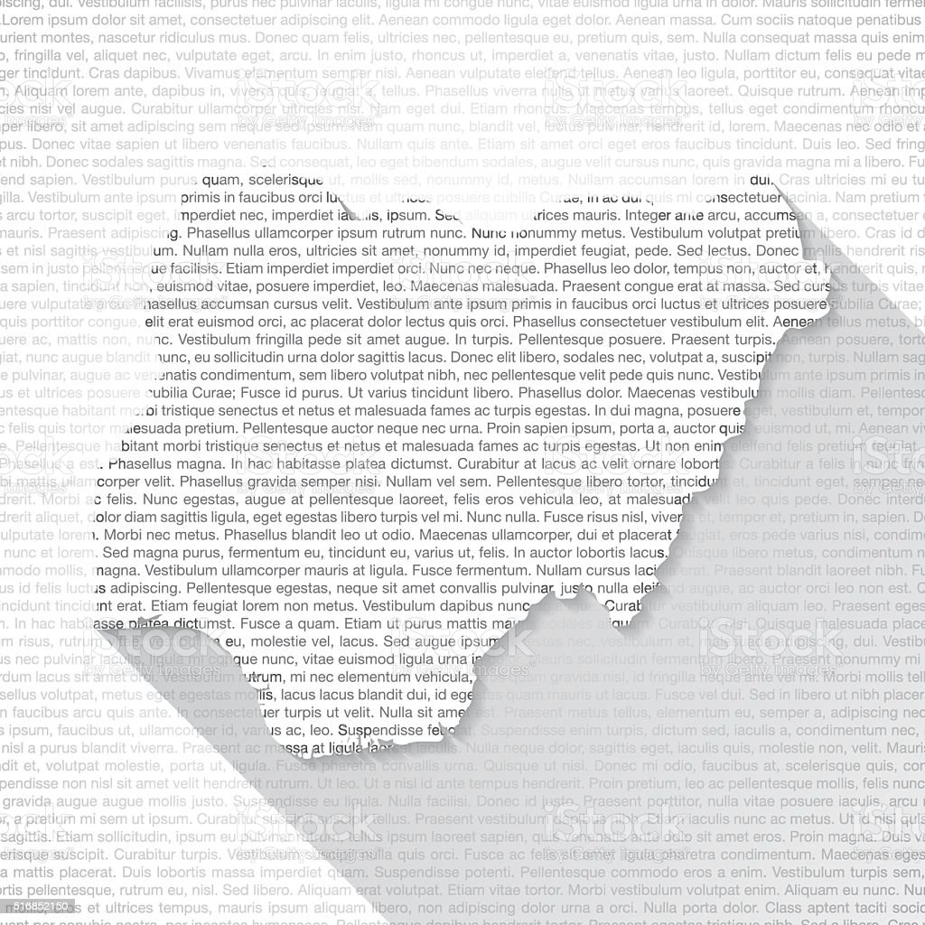 Nigeria Map on Text Background - Long Shadow vector art illustration