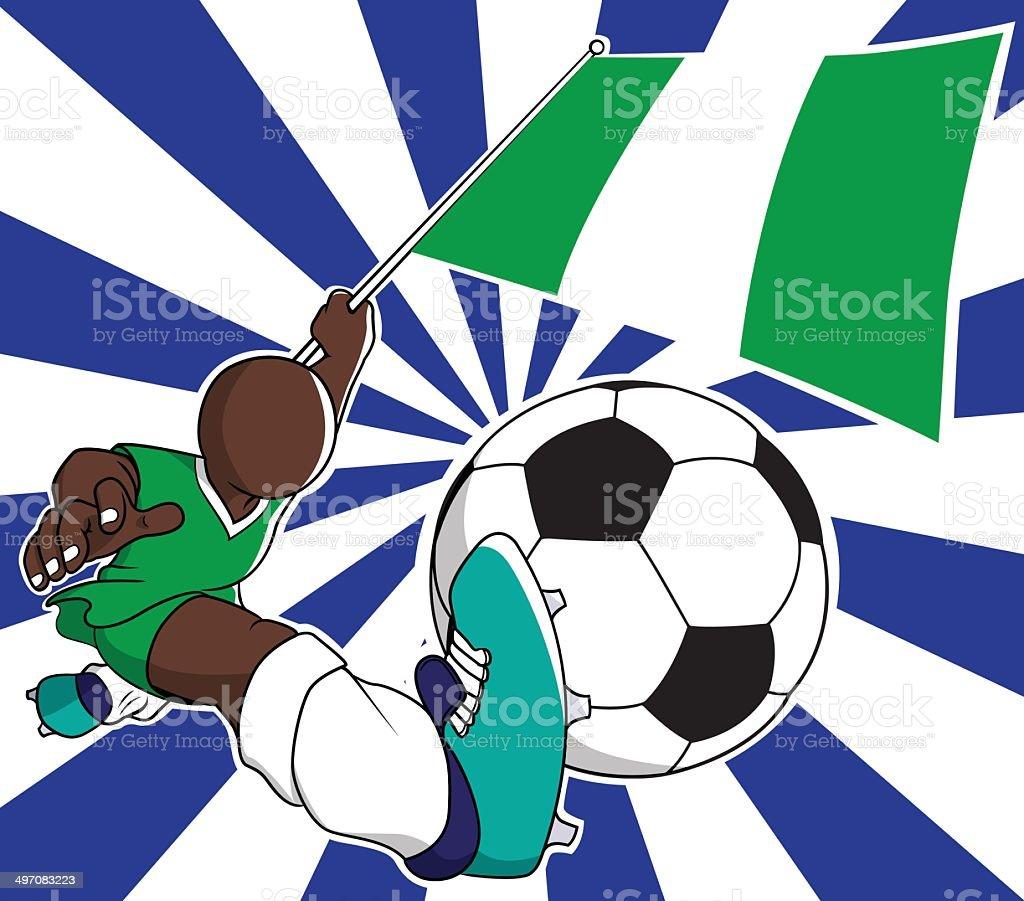 Nigeria  soccer player vector cartoon royalty-free stock vector art