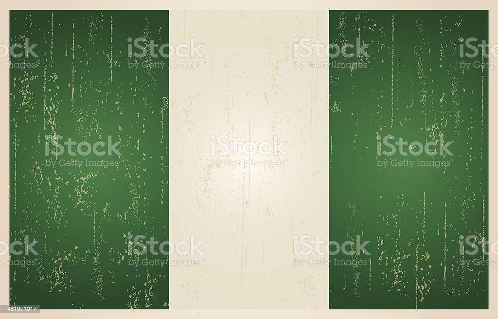 Nigerian grunge vintage flag royalty-free stock vector art