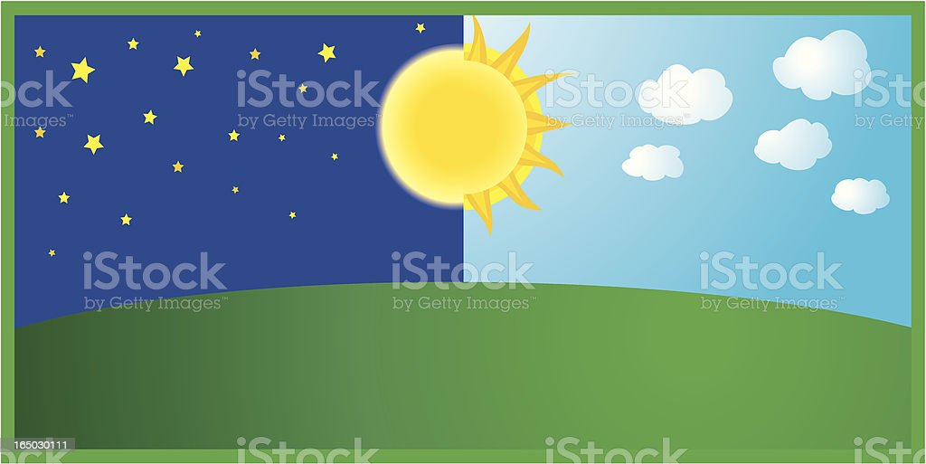 night and day royalty-free stock vector art