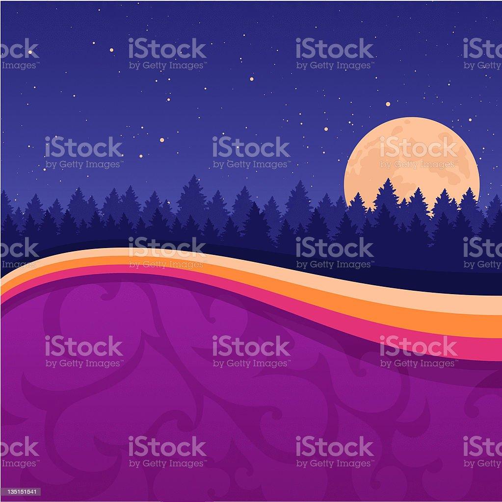 Night Background vector art illustration