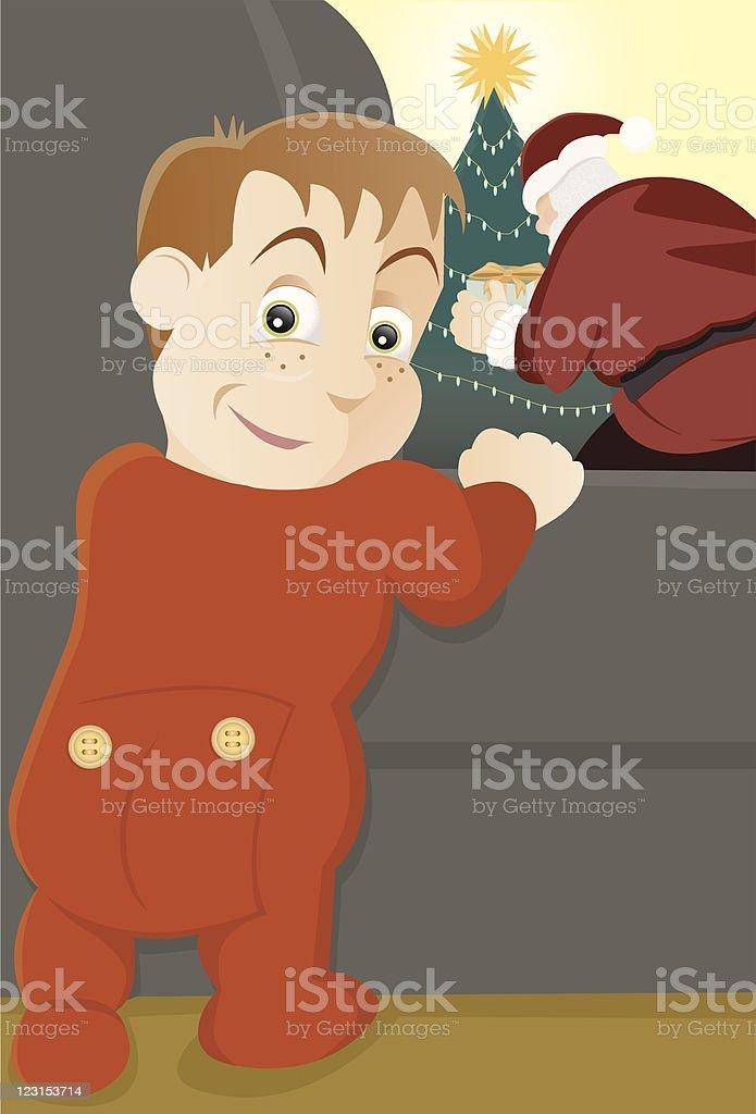 Night Before Christmas royalty-free stock vector art
