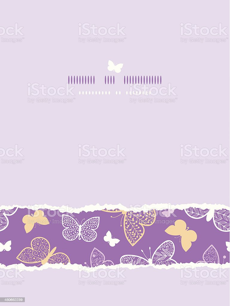 Night butterflies torn frame horizontal seamless pattern background template royalty-free stock vector art