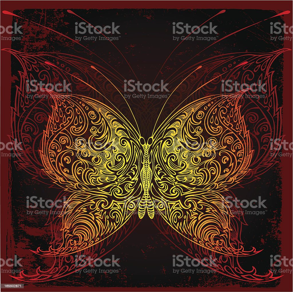 night butterfly royalty-free stock vector art