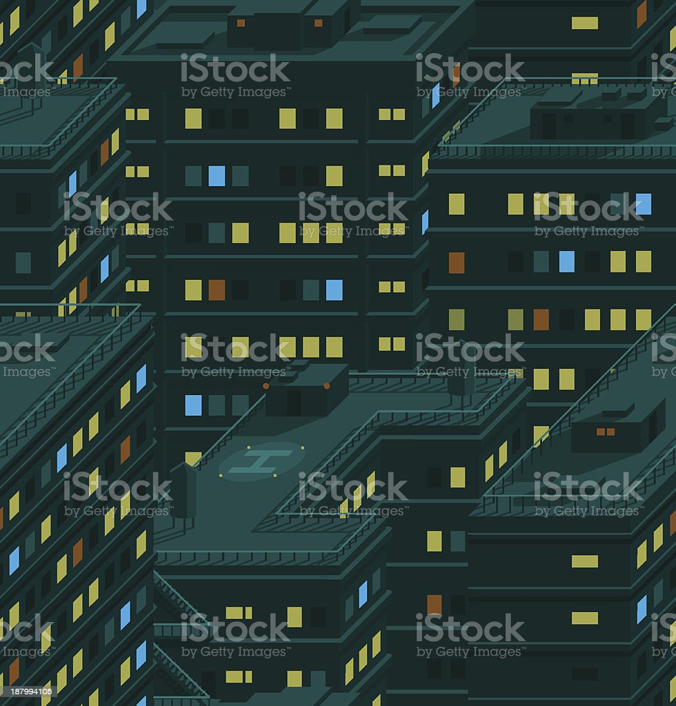 Night city pattern royalty-free stock vector art