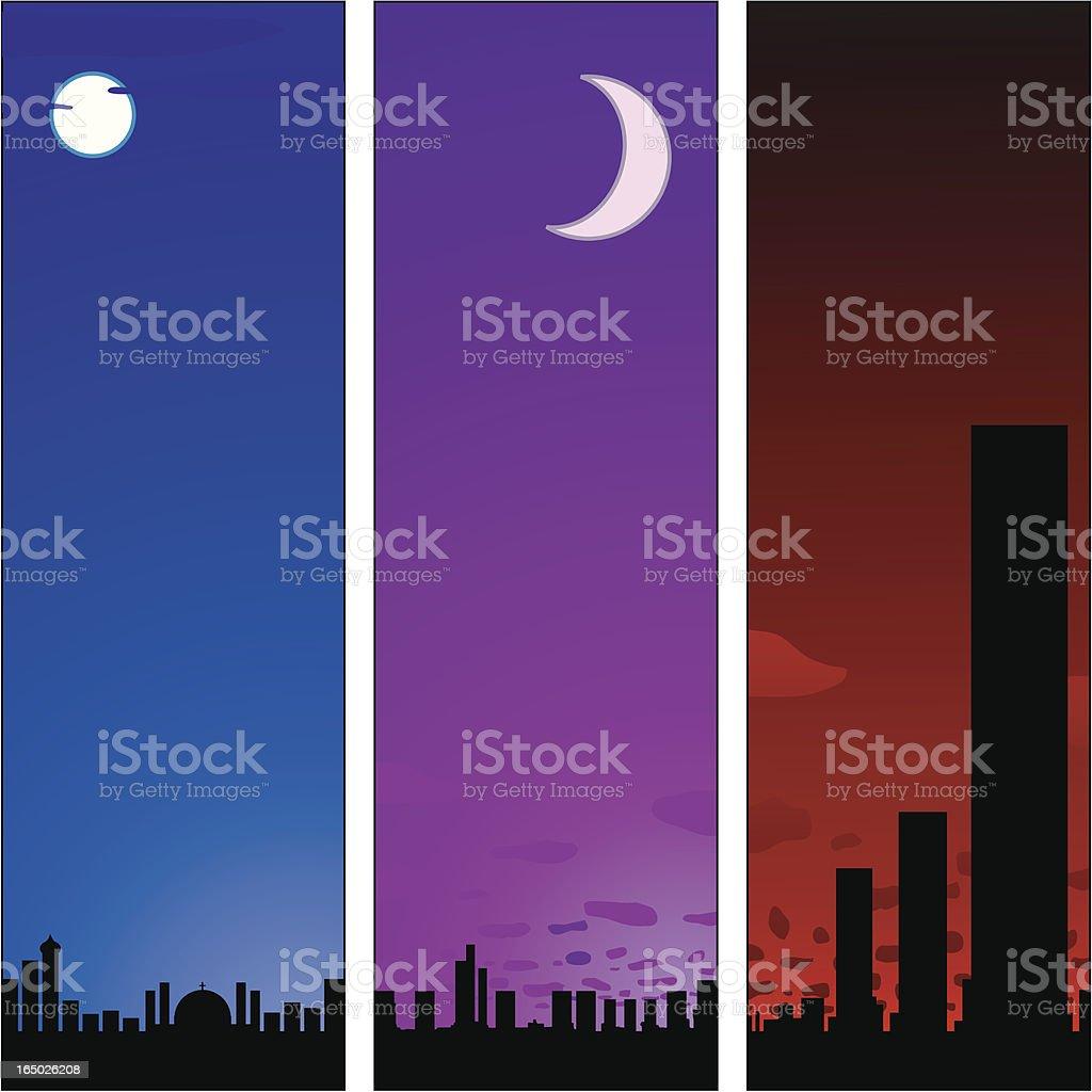 Night City Tablets royalty-free stock vector art