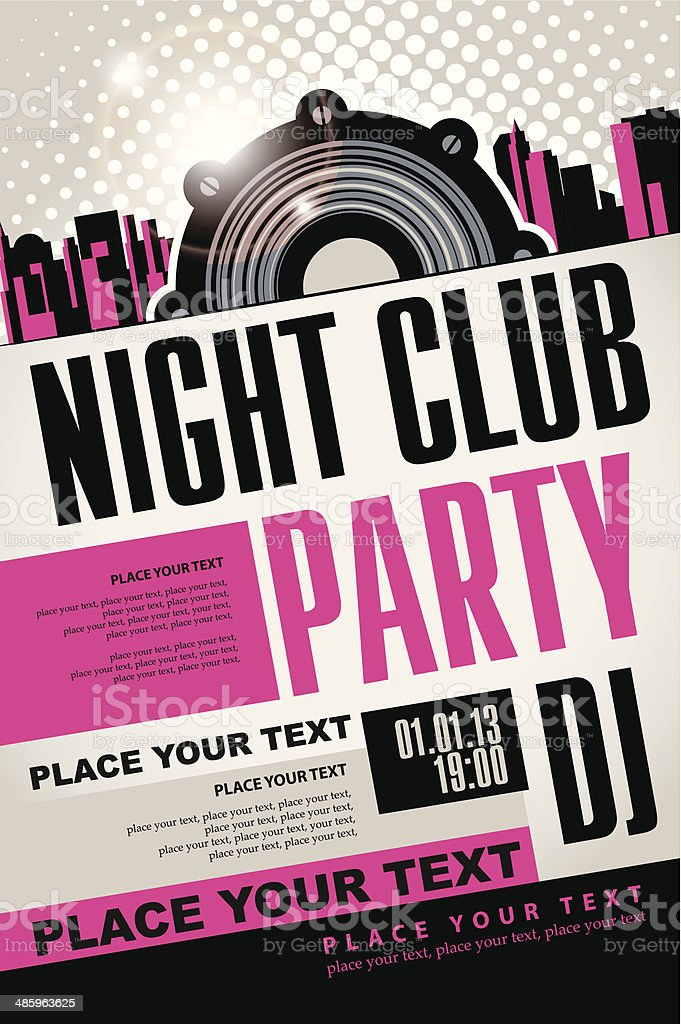night club vector art illustration