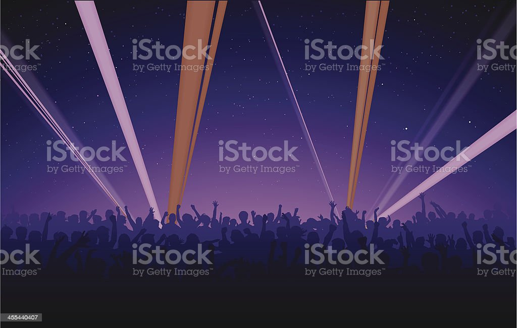 Night Concert royalty-free stock vector art