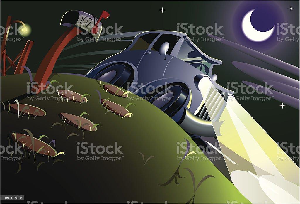 Night Drive(107) royalty-free stock vector art