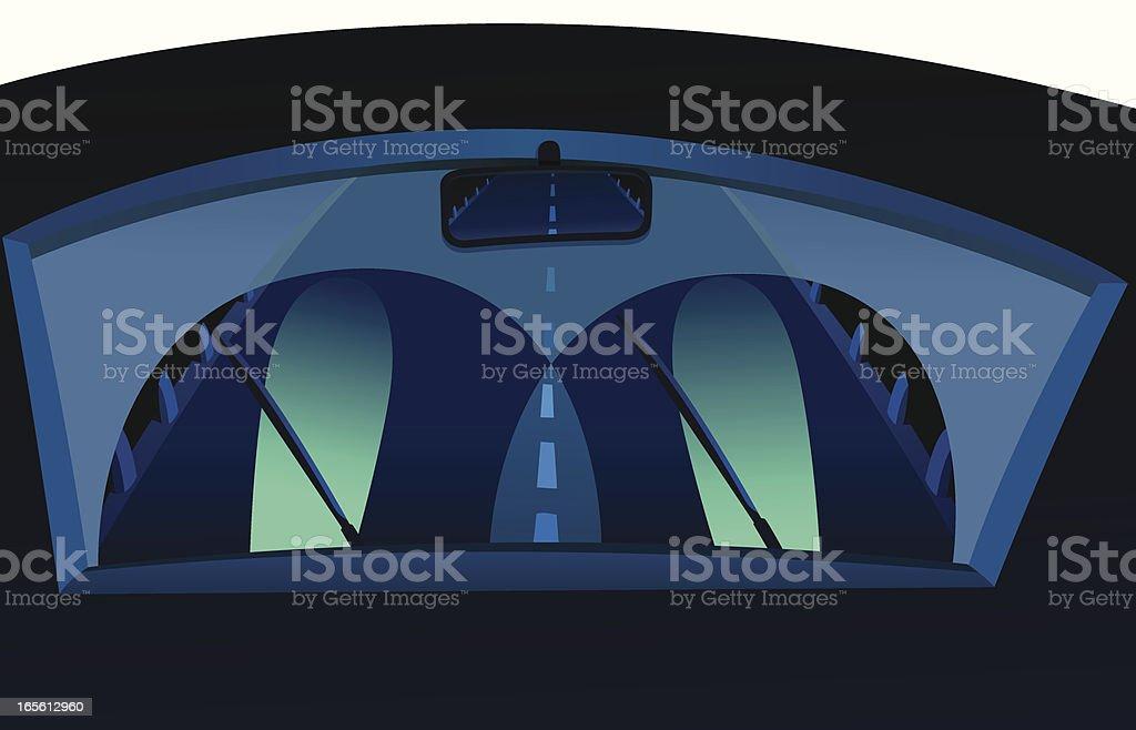 Night Driver vector art illustration