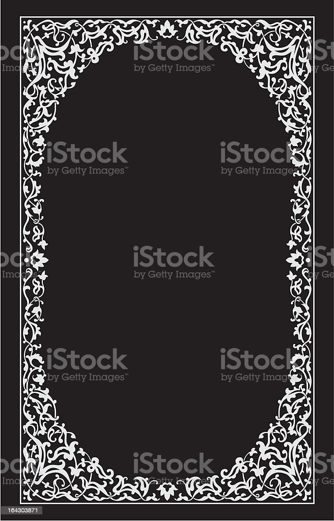 night frame vector royalty-free stock vector art