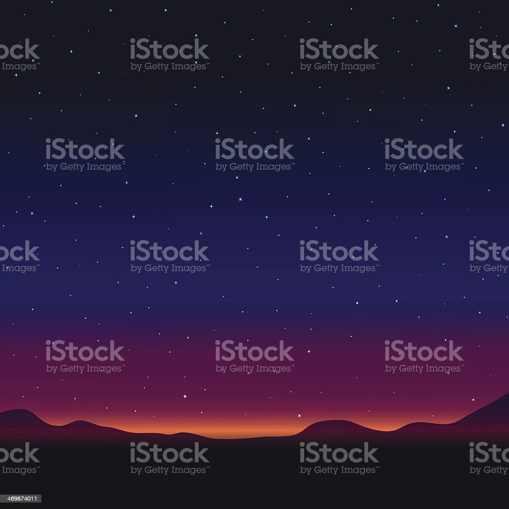 Night landscape royalty-free stock vector art