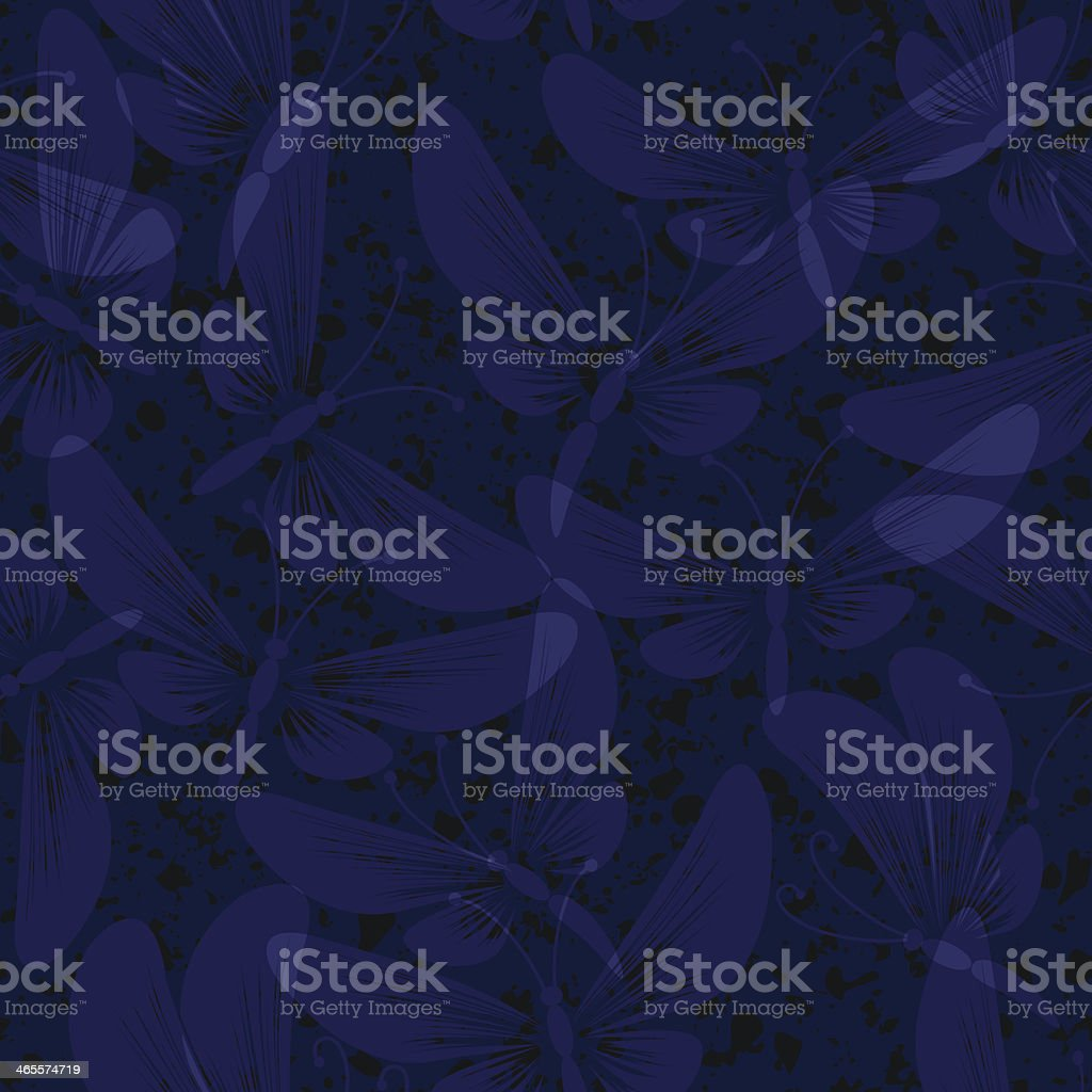 night moth butterflies seamless background royalty-free stock vector art
