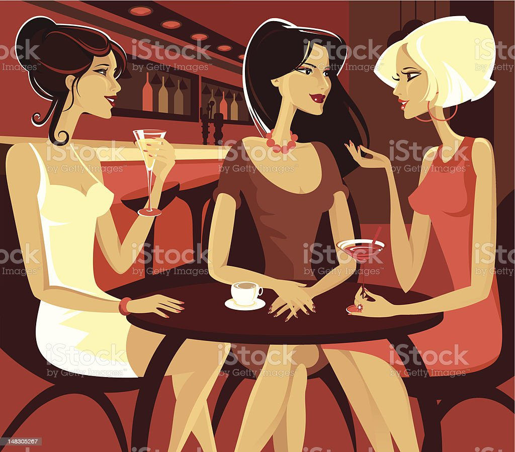 Night out. royalty-free stock vector art