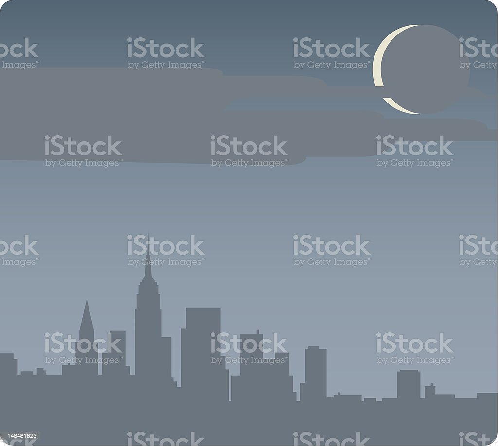 night over new york city royalty-free stock vector art