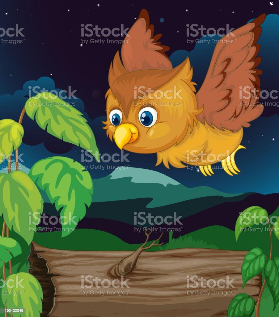 Night owl royalty-free stock vector art