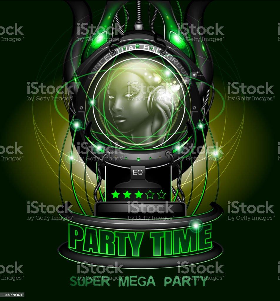 Night Party poster vector art illustration