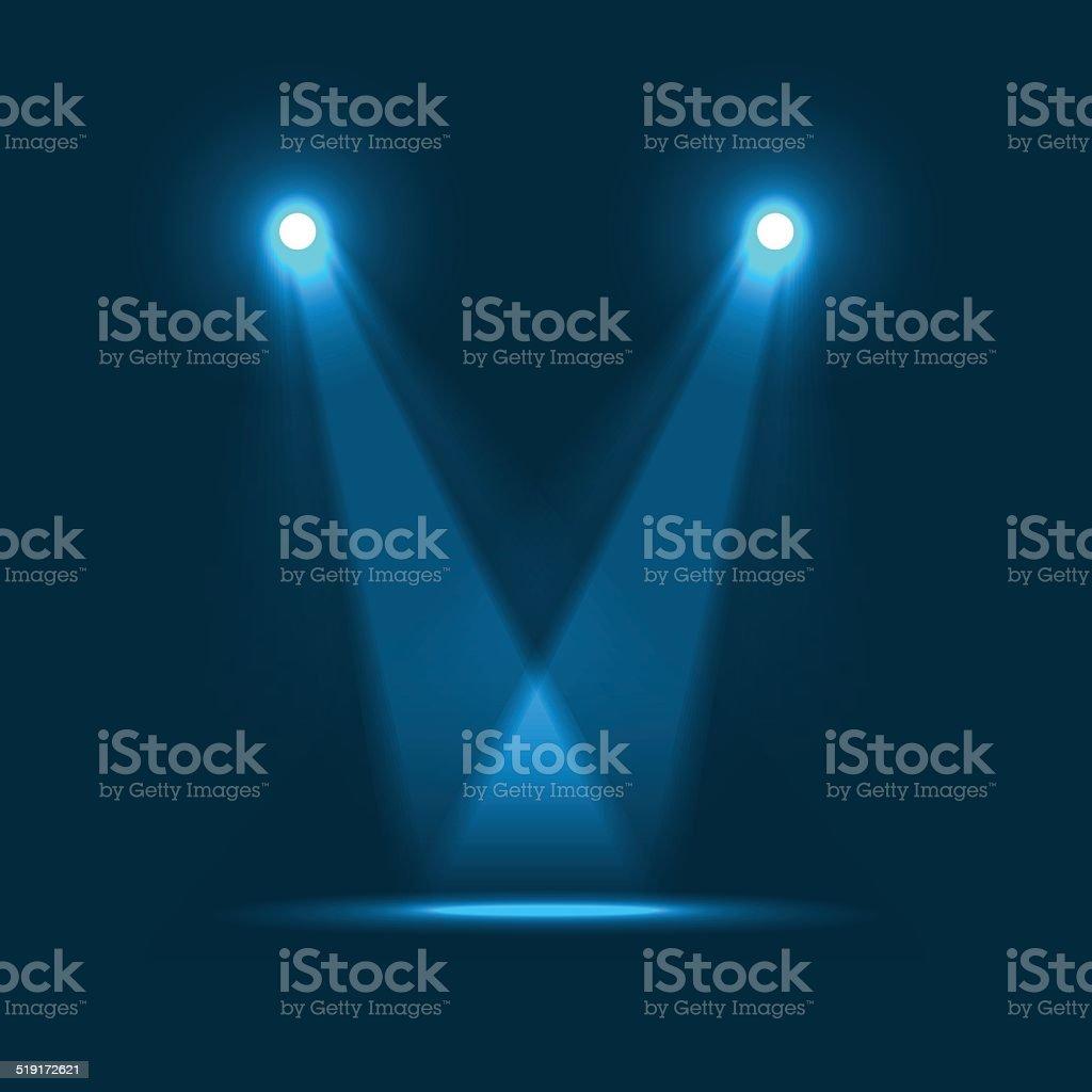 Night Performance vector art illustration