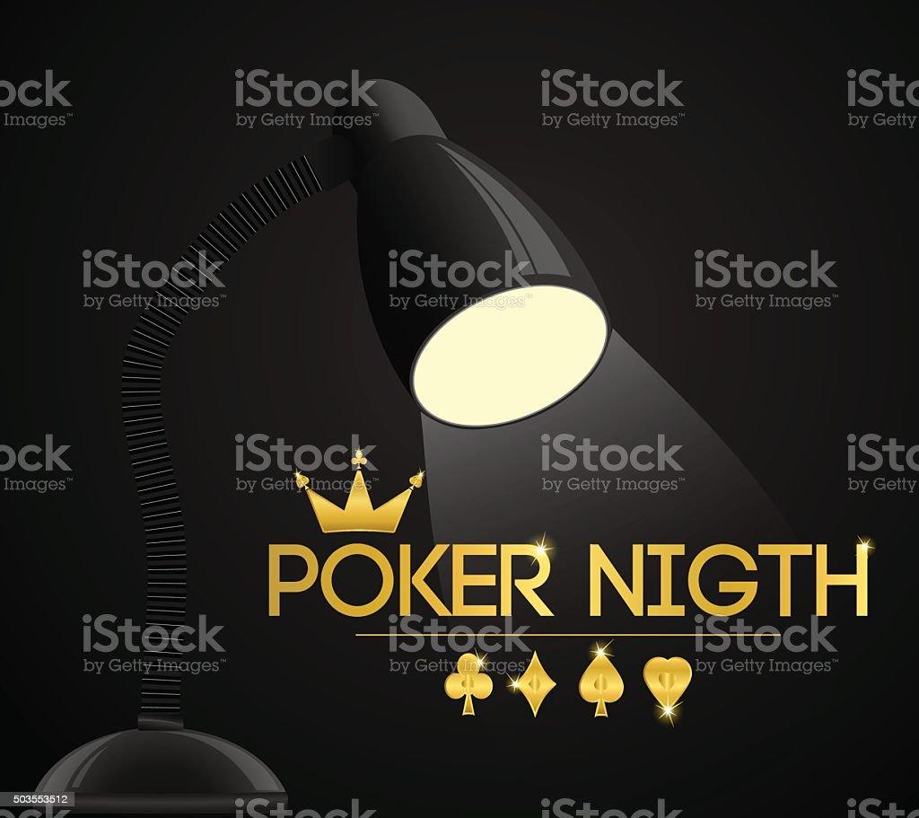 night poker party vector art illustration