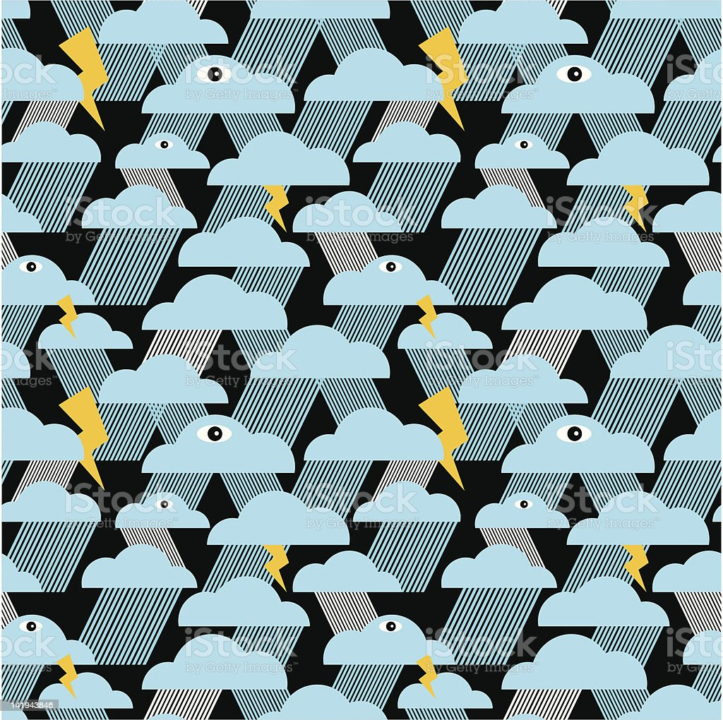 Night rain seamless pattern. royalty-free stock vector art