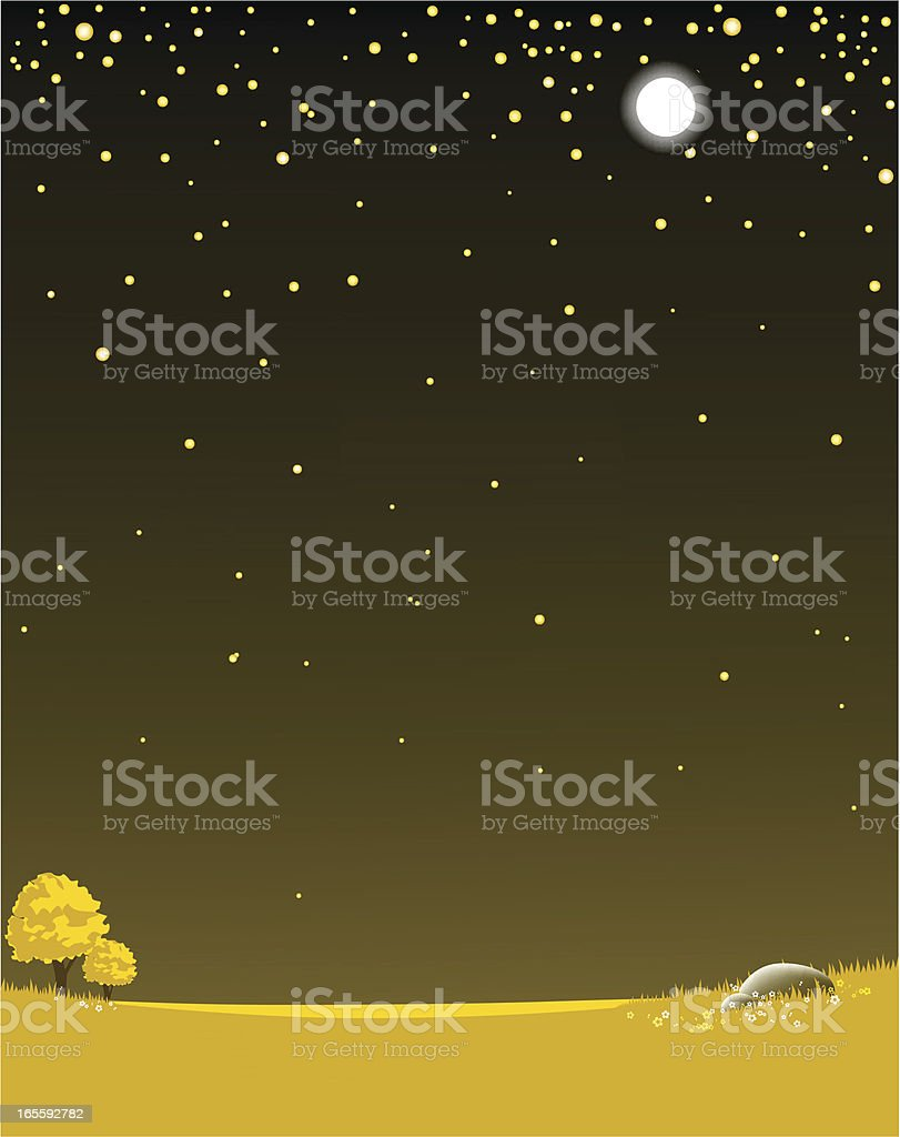 Night scenery with stars royalty-free stock vector art