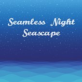 Night Sea Seamless Background