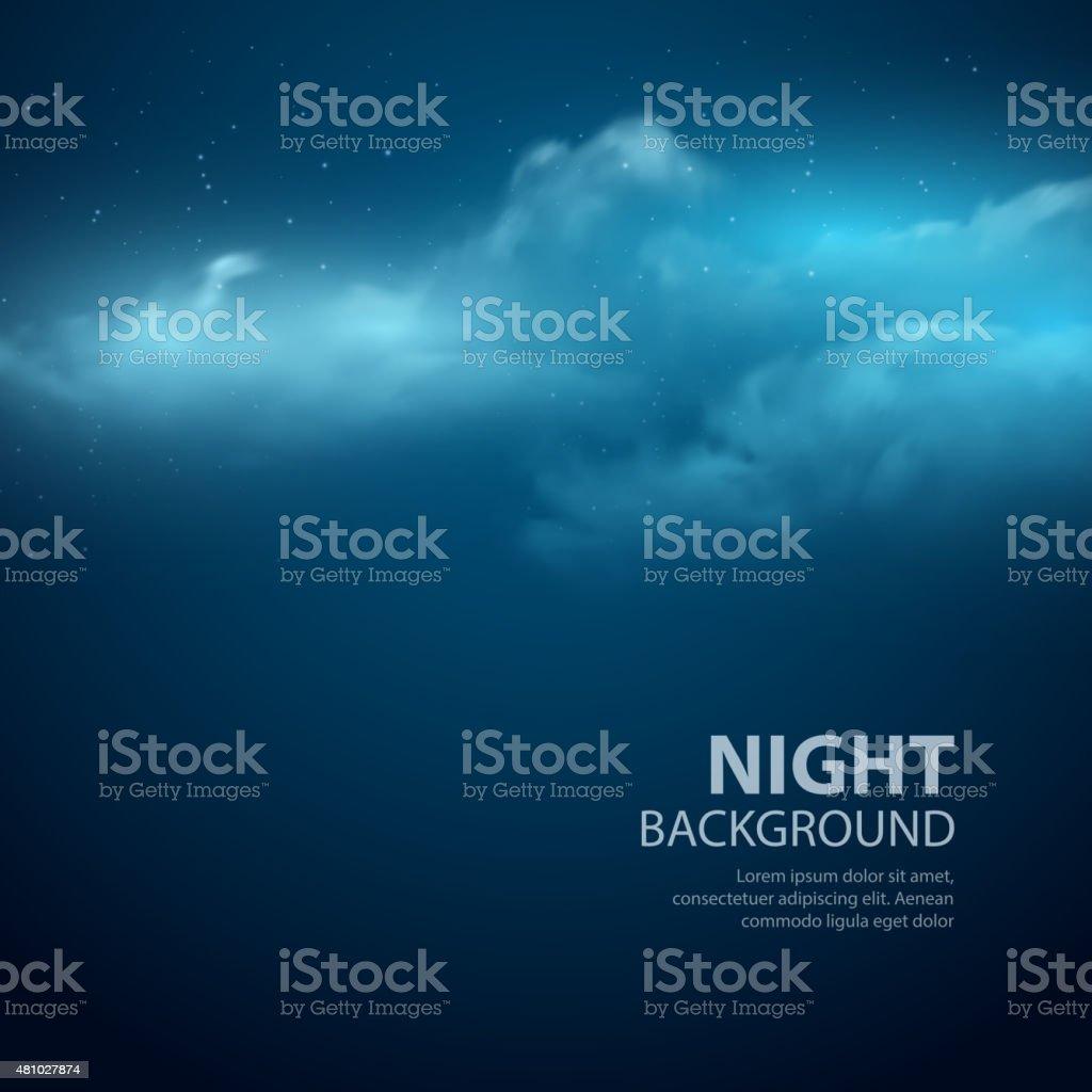 Night sky abstract background. Vector illustration vector art illustration