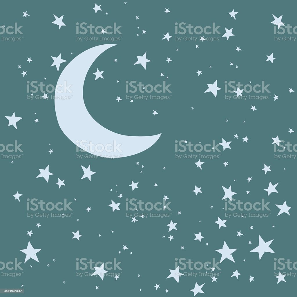 Night Sky Background vector art illustration