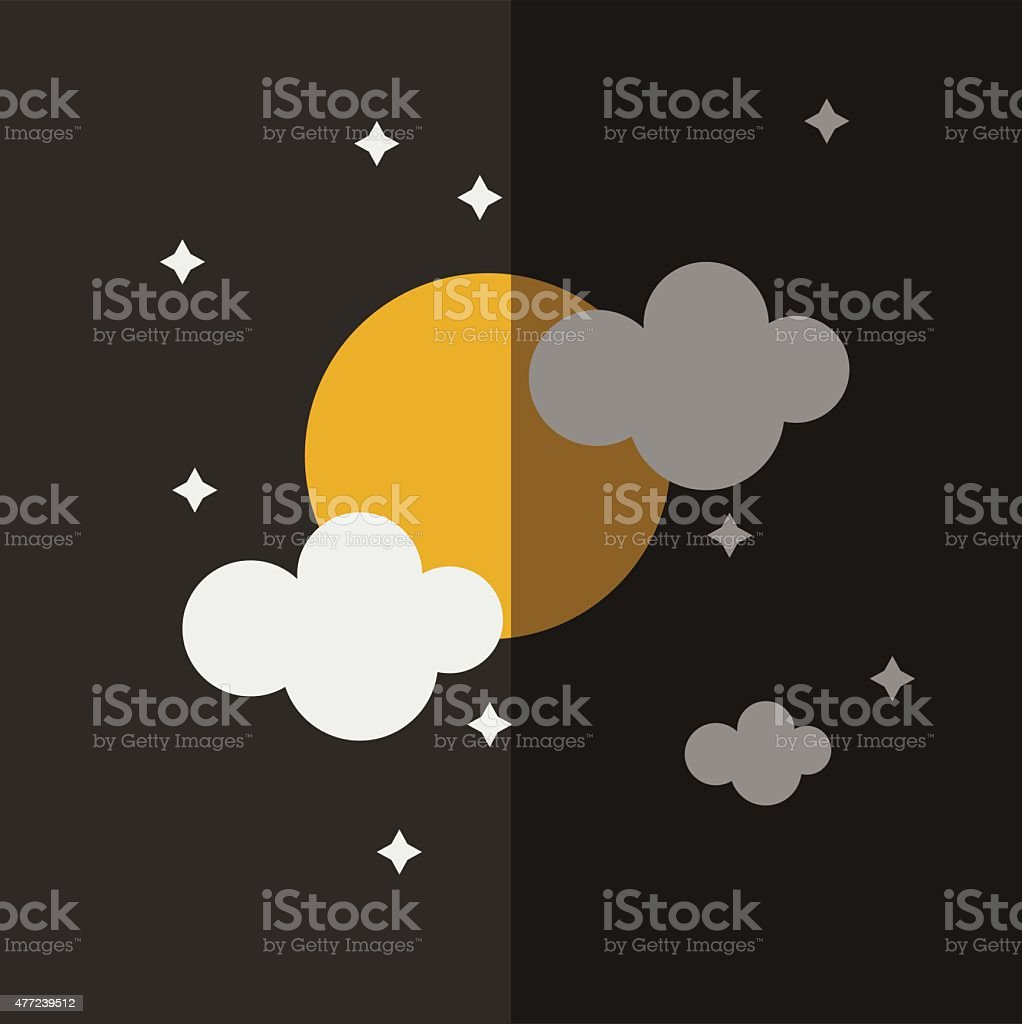 night sky icon great for any use. Vector EPS10. vector art illustration