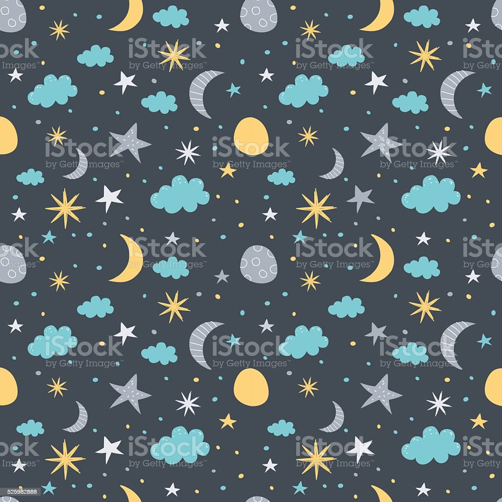 Night sky pattern vector art illustration