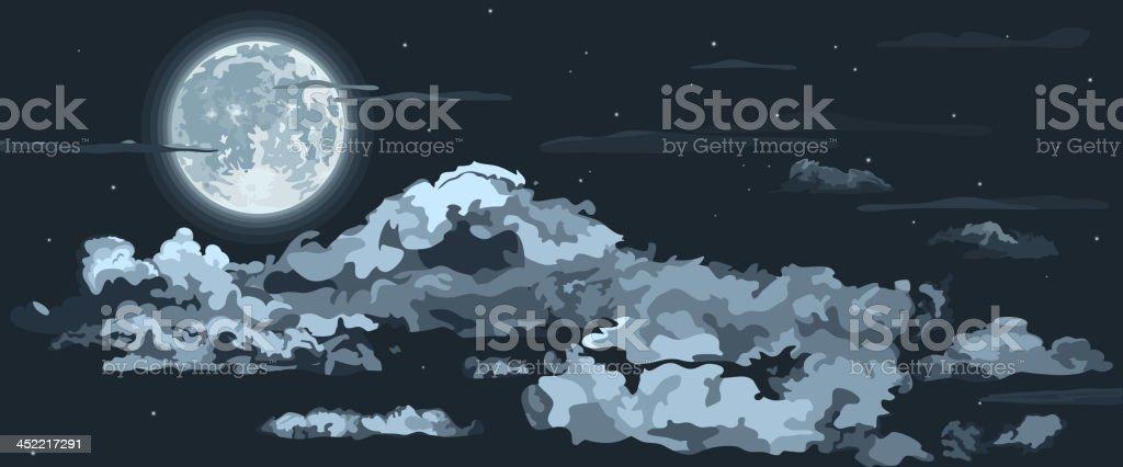 Night sky royalty-free stock vector art