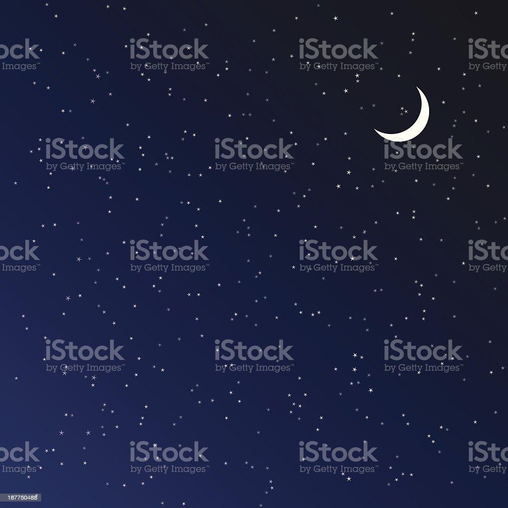 Night sky. Vector illustration. vector art illustration