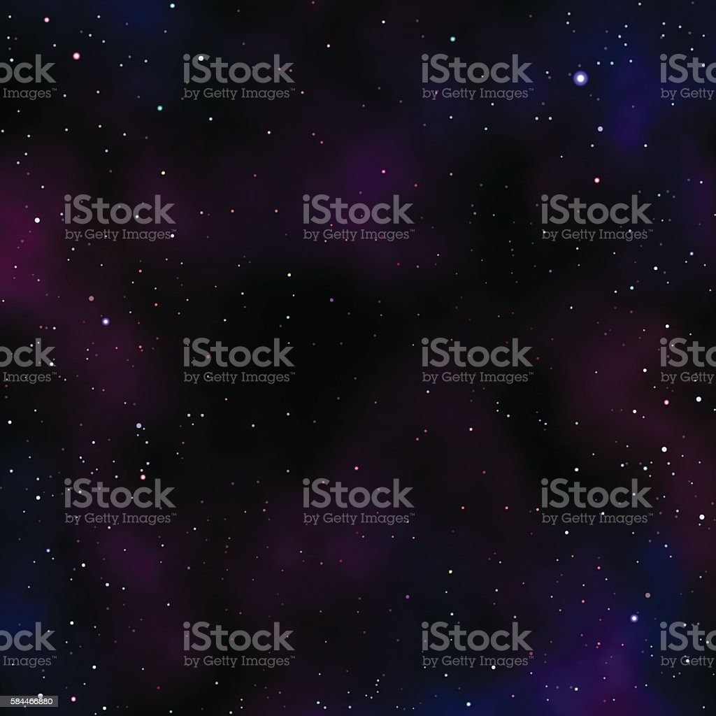 Night Sky with Stars and Clouds vector art illustration