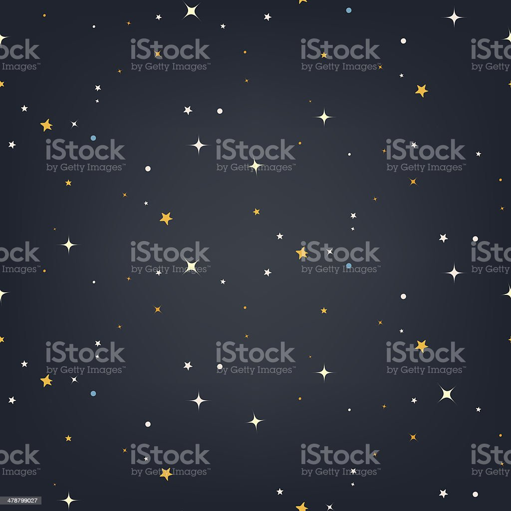 Night sky with stars seamless vector pattern vector art illustration