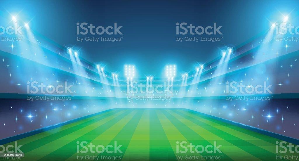 Night stadium illustration vector art illustration