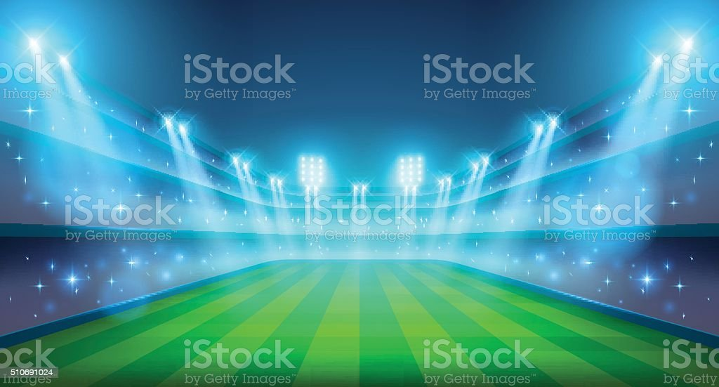 Night stadium illustration vector art illustration