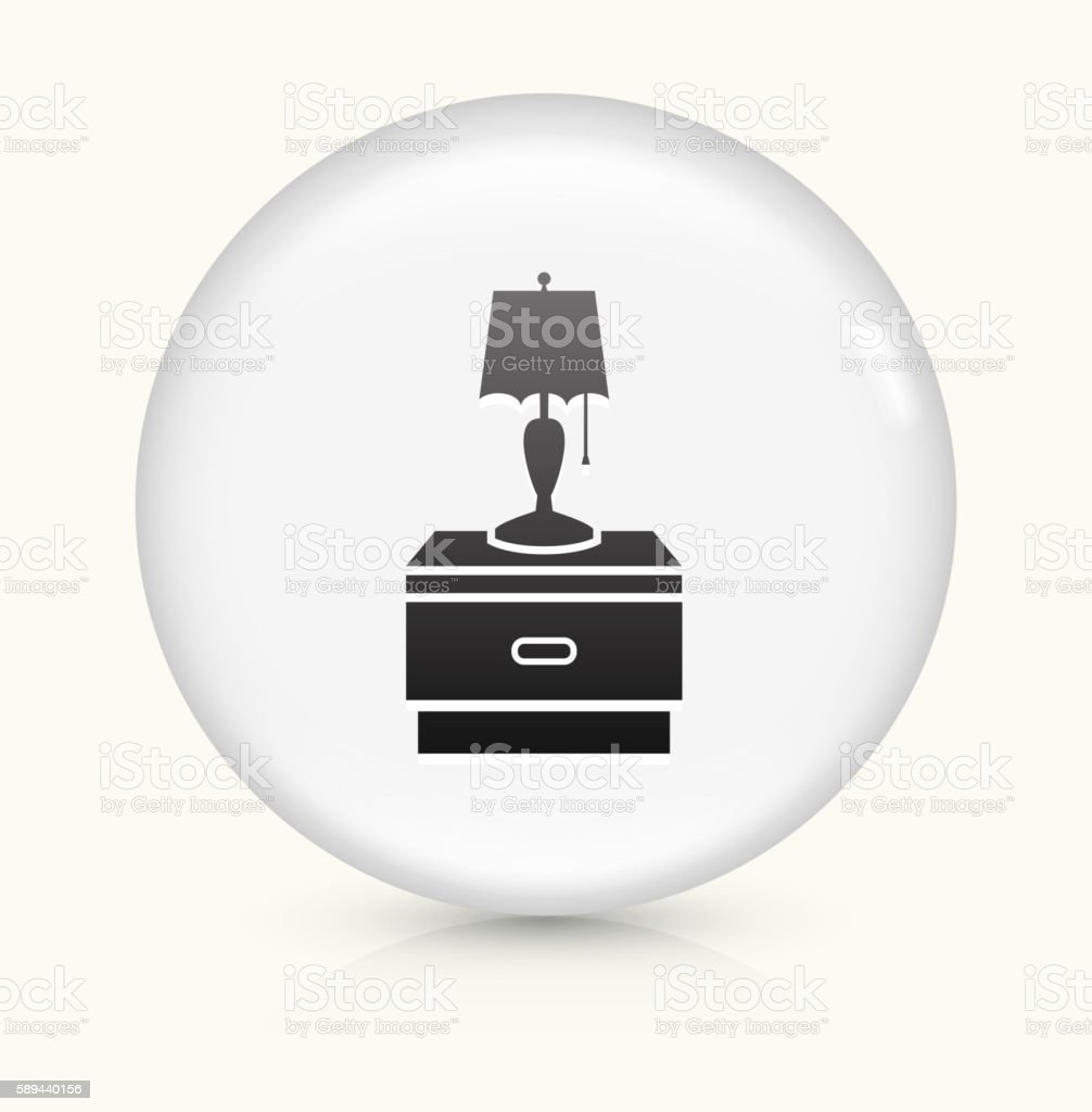 Night Stand and Lamp icon on white round vector button vector art illustration