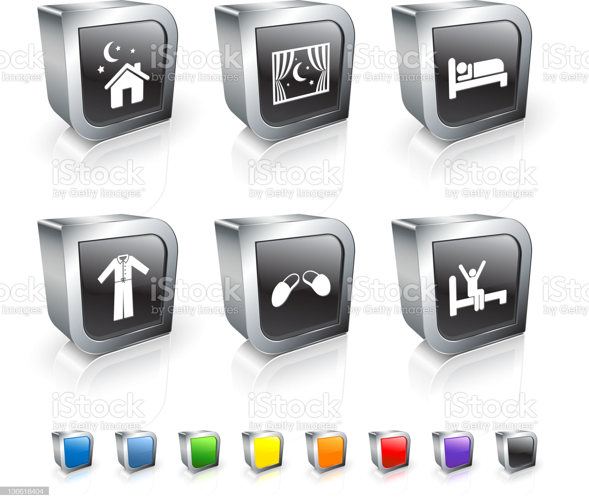 night time rest royalty free vector icon set royalty-free stock vector art