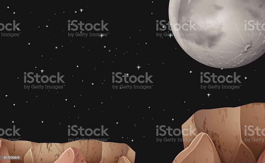 Night vector art illustration