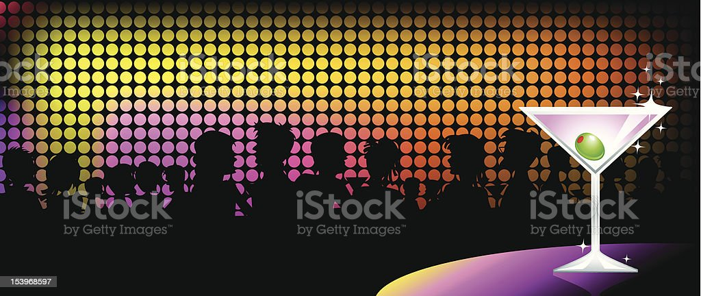 Nightclub Martini vector art illustration