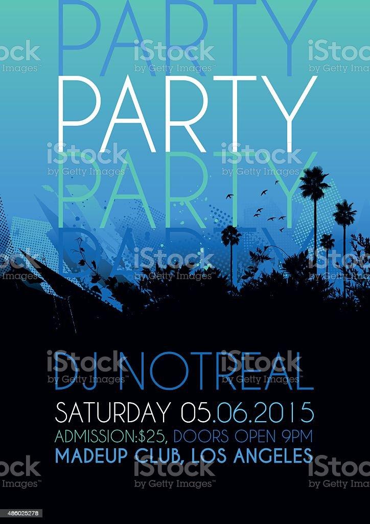 Nightclub party poster vector art illustration