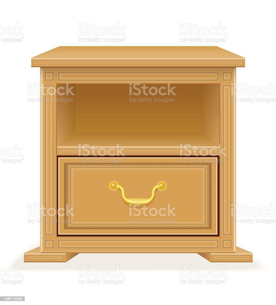 nightstand furniture vector illustration vector art illustration