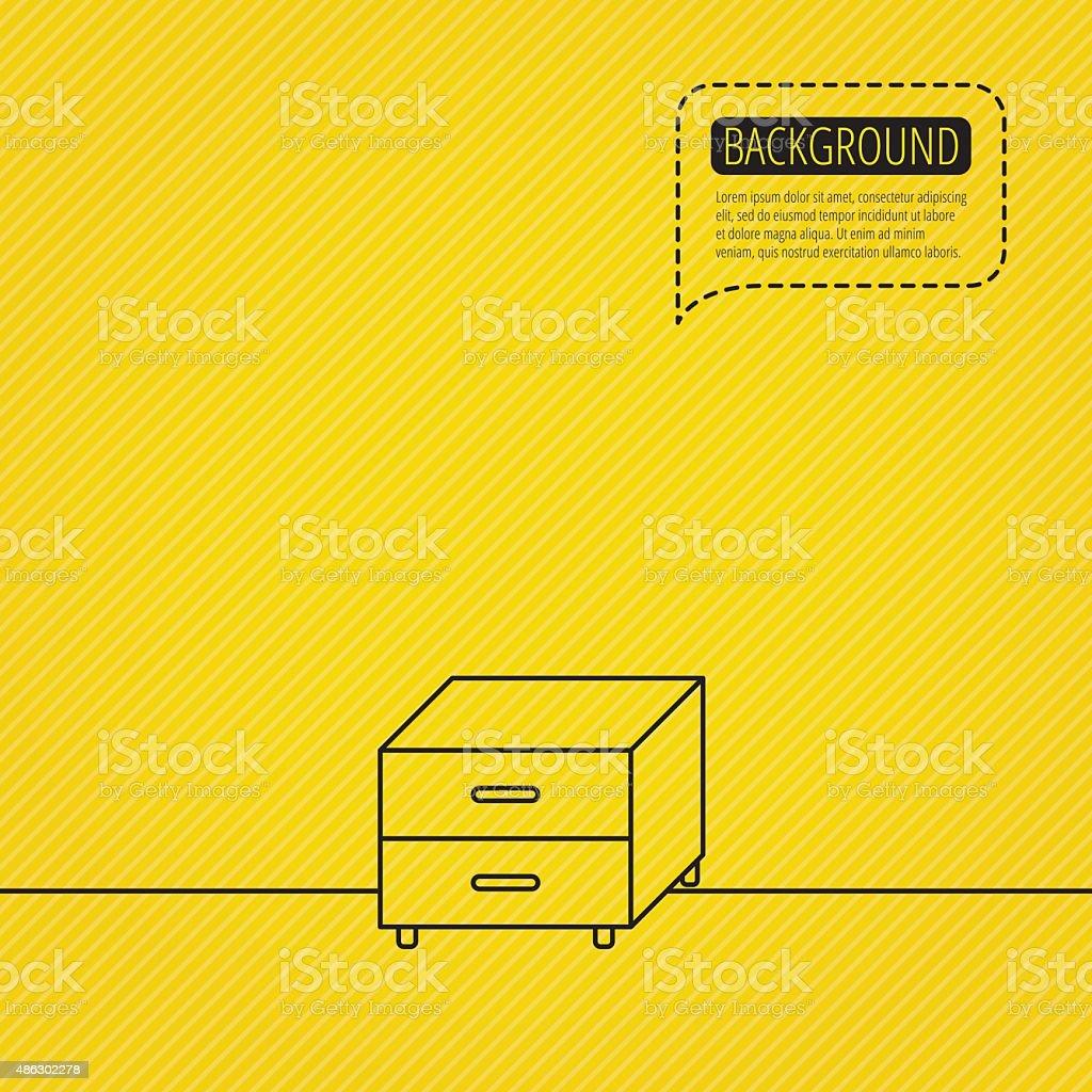 Nightstand icon. Bedroom furniture sign. vector art illustration