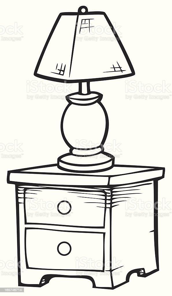 Table de chevet en noir et blanc stock vecteur libres de for Table de chevet pour enfant