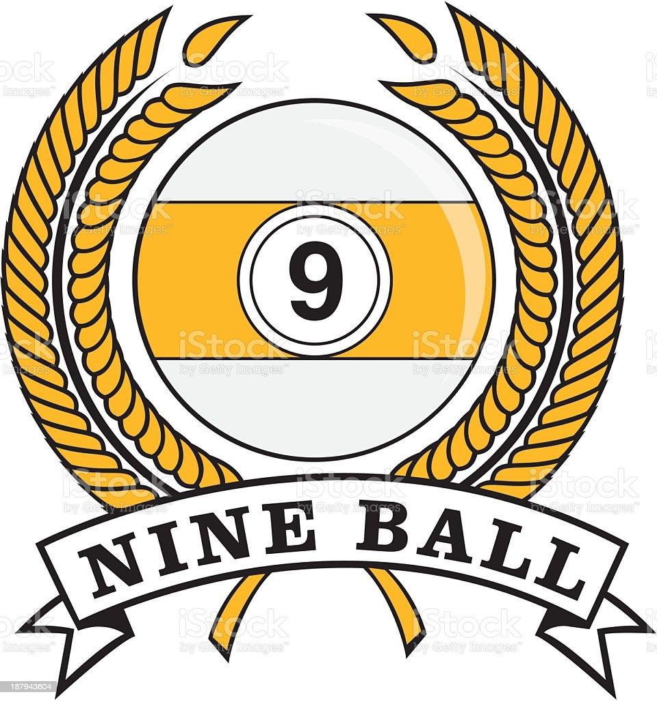 Nine Ball Emblem royalty-free stock vector art