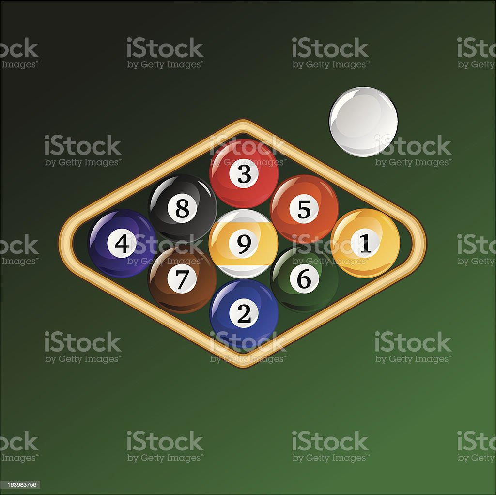 Nine Ball Racked royalty-free stock vector art